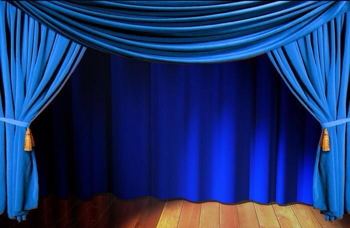 Картинка синий занавес театра рисунков